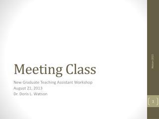 Meeting Class