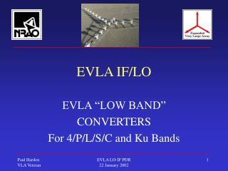 EVLA IF/LO