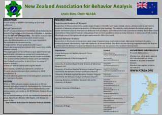 New Zealand Association for Behavior Analysis Lewis Bizo, Chair NZABA