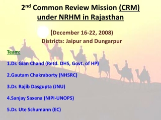 2 nd COMMON REVIEW MISSION