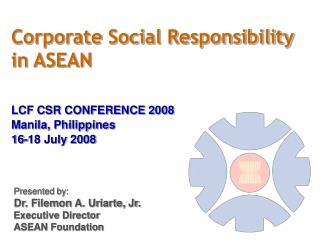 Corporate Social Responsibility  in ASEAN