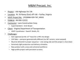 M&M Precast, Inc.