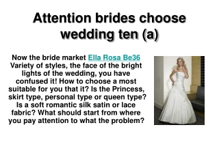 Attention brides choose wedding ten (a)