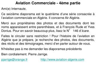 Aviation Commerciale - 4ème partie Ami(e) Internaute,