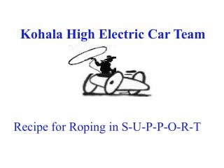 Kohala High Electric Car Team