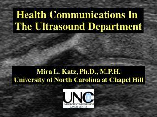 Health Communications In The Ultrasound Depart Mira Katz ...