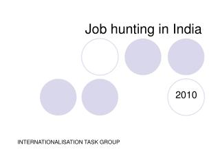 Job hunting in India