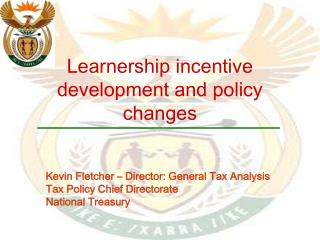 Learnership incentive development and policy changes