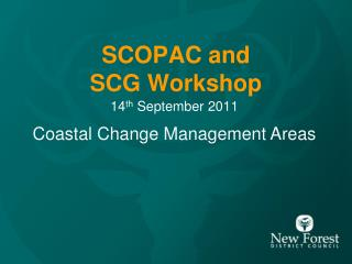 SCOPAC and SCG Workshop