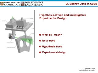 What do I mean? Issue trees Hypothesis trees Experimental design