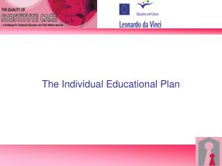 The  Individual  Educational Plan