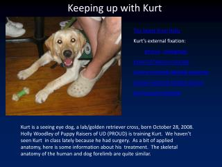 Keeping up with Kurt