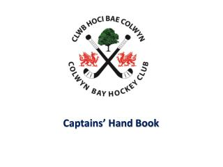 Captains' Hand Book