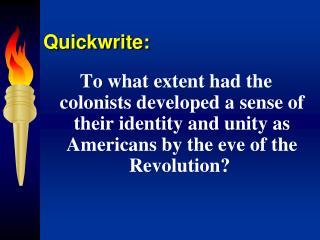 Quickwrite: