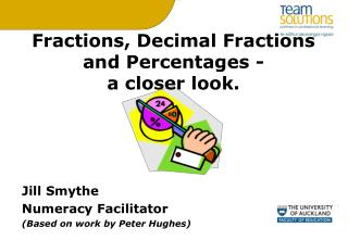 Fractions, Decimal Fractions and Percentages -  a closer look.