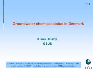 Groundwater chemical status in Denmark