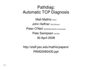 Pathdiag: Automatic TCP Diagnosis