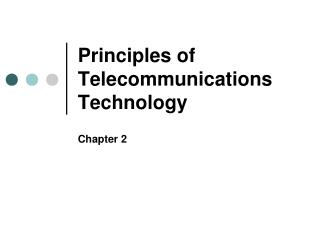 Principles of Telecommunications Technology