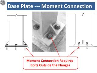 Base Plate --- Moment Connection