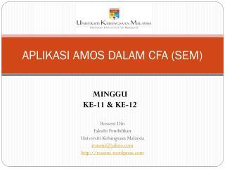 APLIKASI AMOS DALAM CFA (SEM)