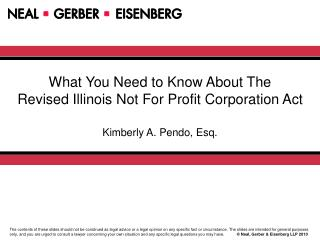 What You Need to Know About The Revised Illinois Not For Profit Corporation Act