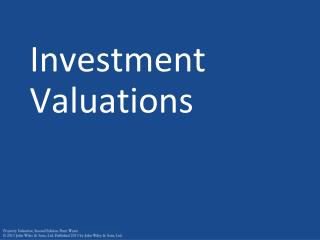 Investment Valuations