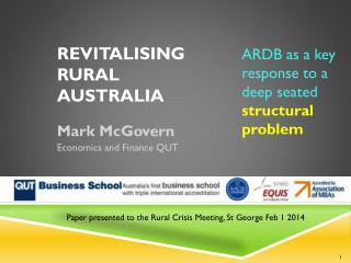 revitalising Rural  Australia