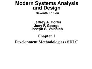 Chapter 1 Development Methodologies / SDLC