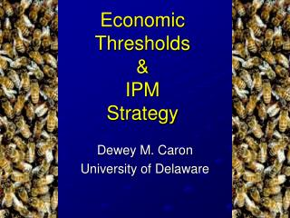 Economic Thresholds & IPM Strategy