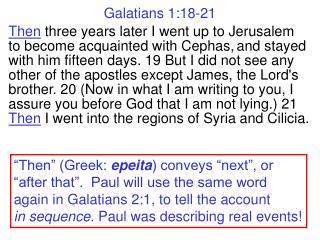 Galatians 1:18-21