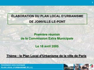 LABORATION DU PLAN LOCAL D URBANISME  DE JOINVILLE-LE-PONT