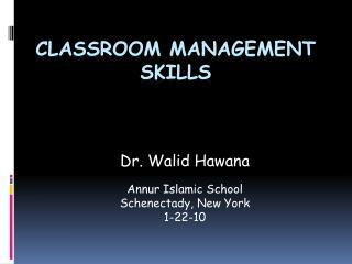 Classroom Management Skills