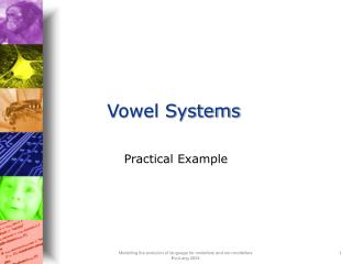 Vowel Systems