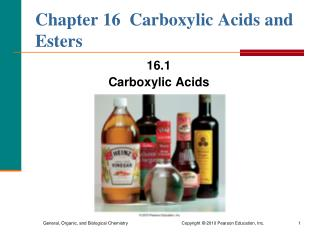 Chapter 16  Carboxylic Acids and Esters