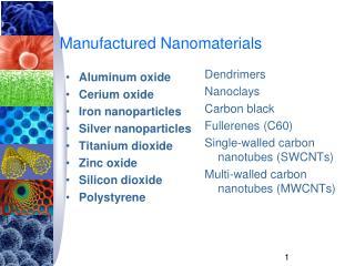 Manufactured Nanomaterials