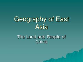Geography of East Asia