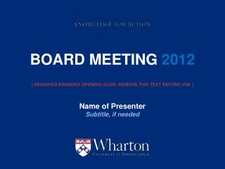 board meeting  2012