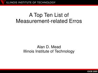 A Top Ten List of  Measurement-related Erros