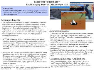 LandForm VisualFlight� Rapid Imaging Software,  Albuquerque, NM