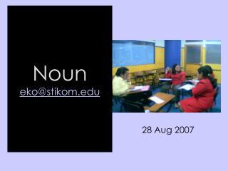 Noun eko@stikom.edu
