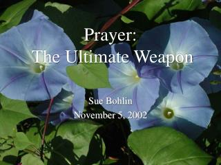 Prayer:  The Ultimate Weapon