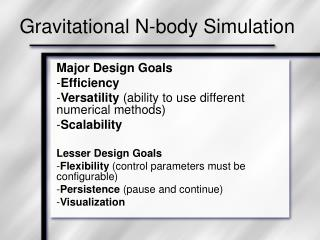 Gravitational N-body Simulation
