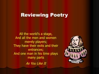 Reviewing Poetry