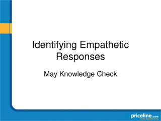 Identifying Empathetic Responses
