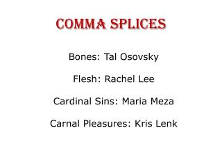 Comma Splices