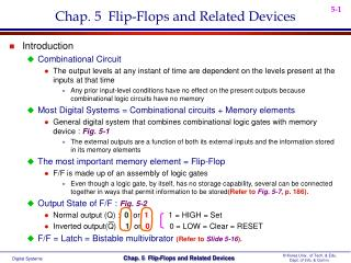 Chap. 5  Flip-Flops and Related Devices