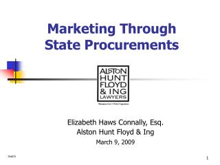 Marketing Through  State Procurements