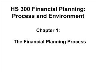 HS 300 Financial Planning: Process and Environment