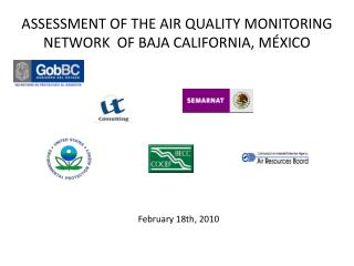 ASSESSMENT OF THE AIR QUALITY MONITORING NETWORK  OF BAJA CALIFORNIA, MÉXICO