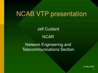 NCAB VTP presentation